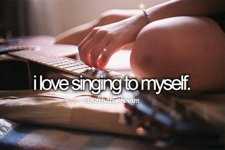 Azt hiszem, mások értékelik, ha inkább csendben maradok. :D Yeah...but I guess others appreciate if I don't sing. :D